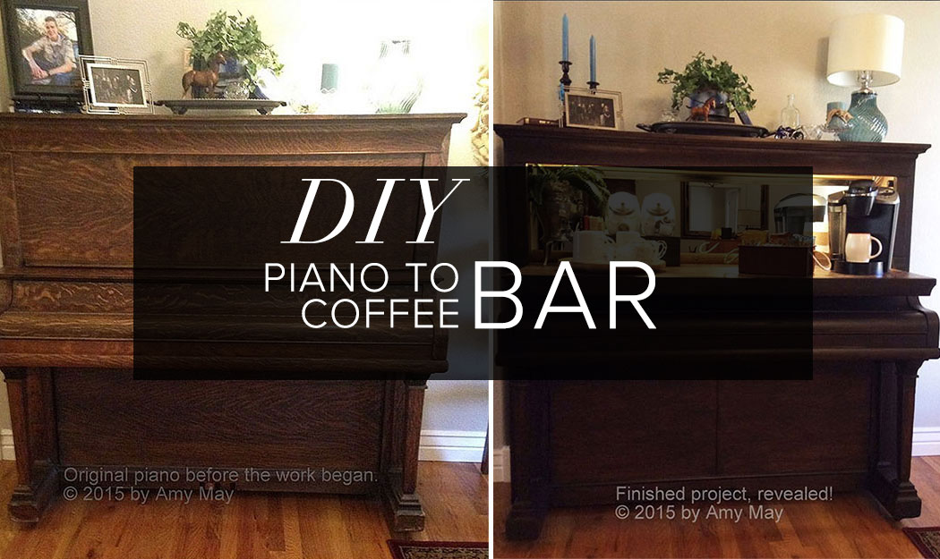 Diy Turning An Piano Into A Coffee Bar