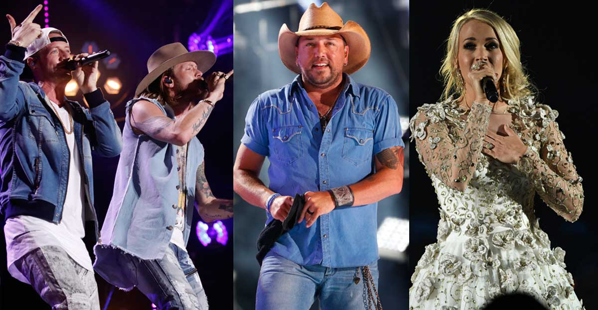 CMT Awards FGL Jason Aldean and Carrie Underwood
