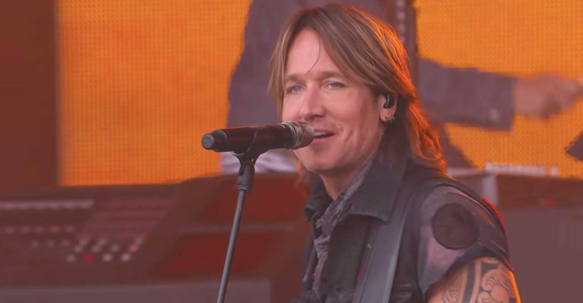 Keith Urban performing on Jimmy Kimmel