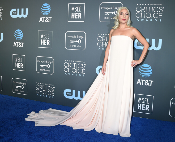 Lady Gaga Red Carpet Critics Choice awards fashion