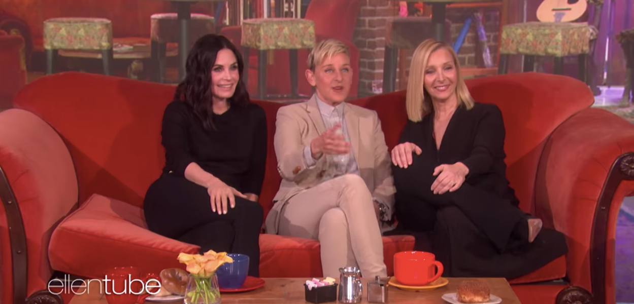 Courteney Cox and Lisa Kudrow reunite on Friends Set thanks to Ellen