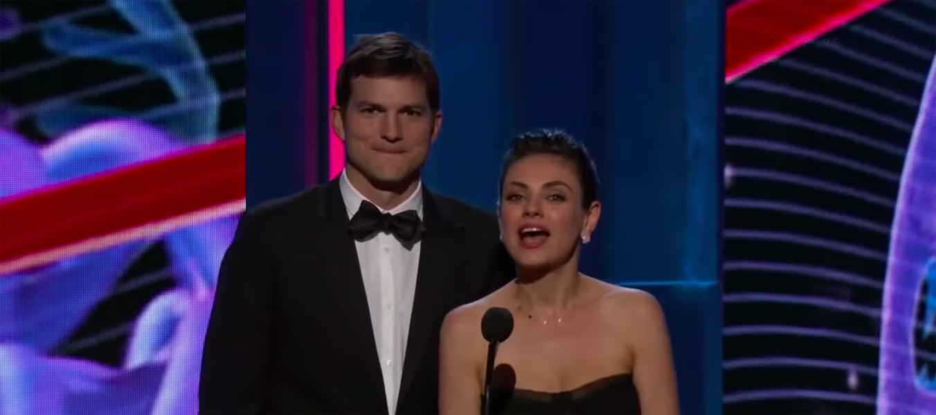 Mila Kunis Ashton Kutcher Valentines day gift lovebirds