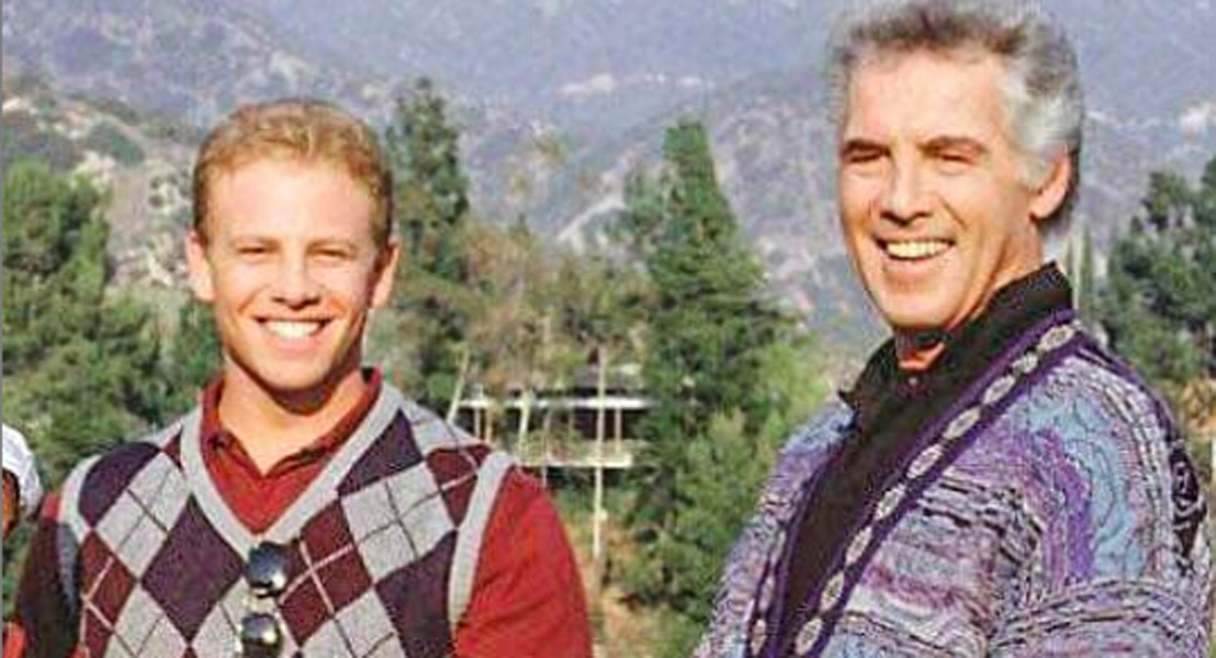 Jed Allan Death with co-star Ian Ziering