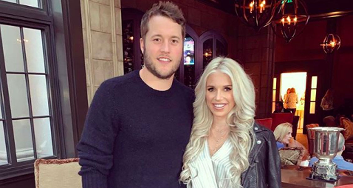 Matt Stafford and wife Kelly Stafford share news of Kelly's brain tumor