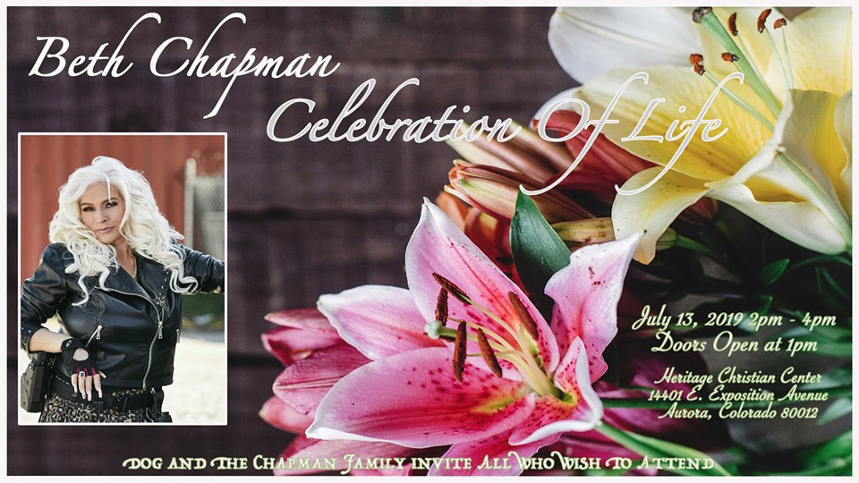 Beth Chapman Memorial invitation