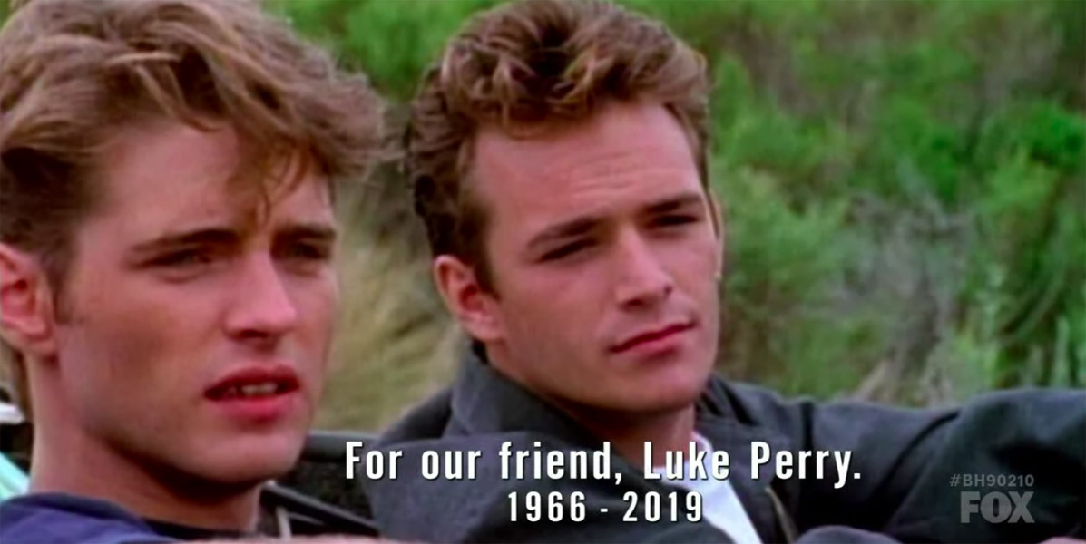 Luke Perry tribute on Beverly Hills 90210 premiere episode