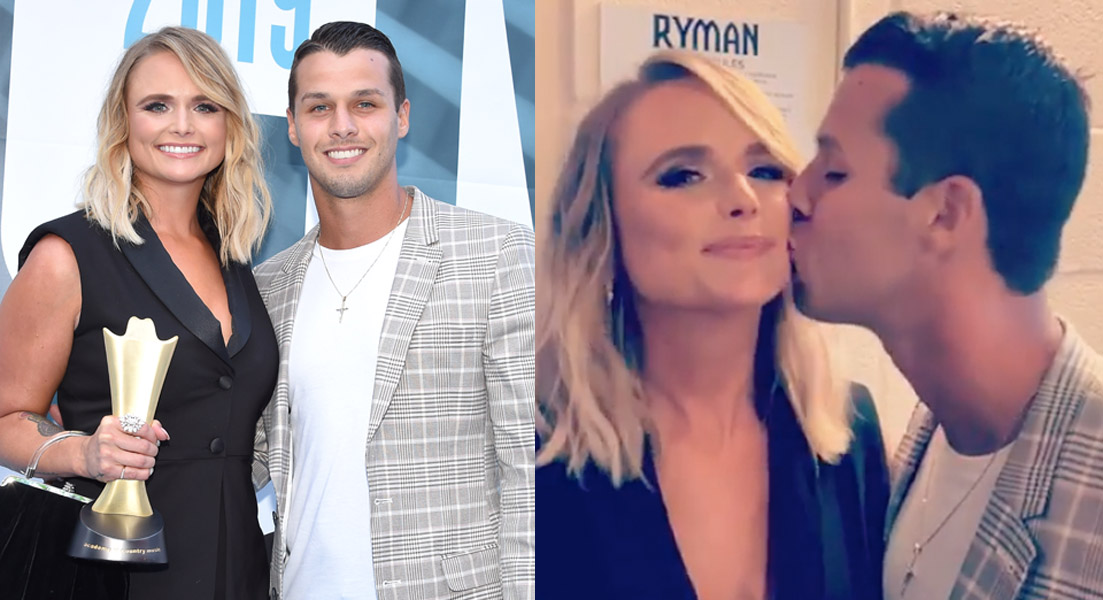 Miranda Lambert and husband Brendon McLoughlin share PDA at ACM Honors event