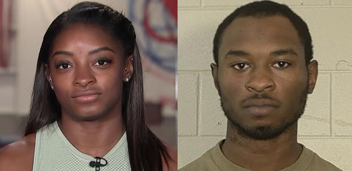 Simone Biles brother Tevin Biles Thomas arrested for murder