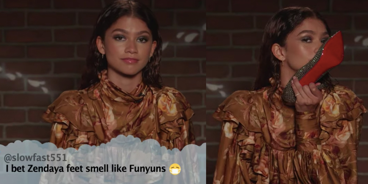 Zendayay clap back on Jimmy Kimmel Live Mean Tweets