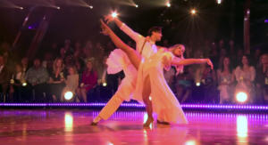 Lauren Alaina on Dancing with the stars dancing foxtrot to Dolly Parton Jolene