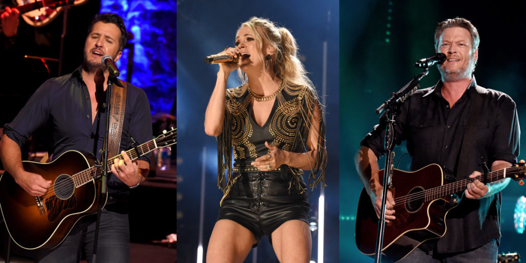 Forbes Top Country Earners list Luke Carrie and Blake