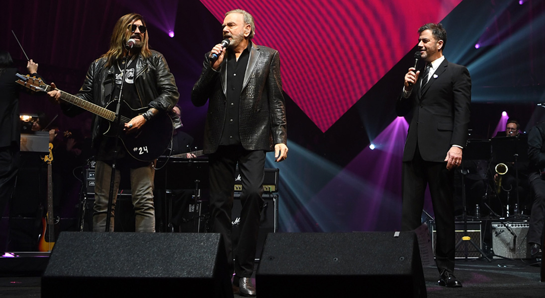 Billy Ray Cyrus Neil diamond duet at Gala for brain health
