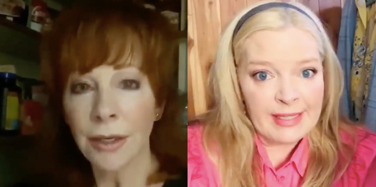 Reba and Barbara Jean reunite for social distancing